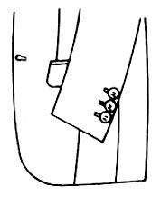 袖ボタン 3つ