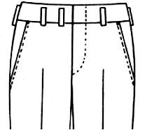 脇ポケット レギュラー(ナナメ)